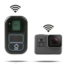 цена на Waterproof Wireless WiFi Remote For Gopro Hero 8 7 6 5 4 Session Go pro 5 6 3+ Smart Remote Control Charging Cable Kits