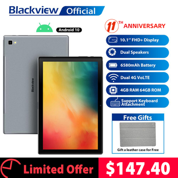 Blackview Tab 8 10.1 inch Android 10.0 Google Play 4G Phone Call Tablets 4GB RAM 64GB ROM 13.0MP Rear Camera 6580mAh Tablet PC 1