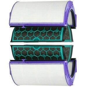 Для Dyson Hp04 Tp04 Dp04 герметичный двухступенчатый очиститель воздуха Hepa & Набор угольных фильтров