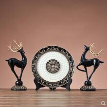 Творческий диск ремесла смолы оленей статуи нордический винтажное