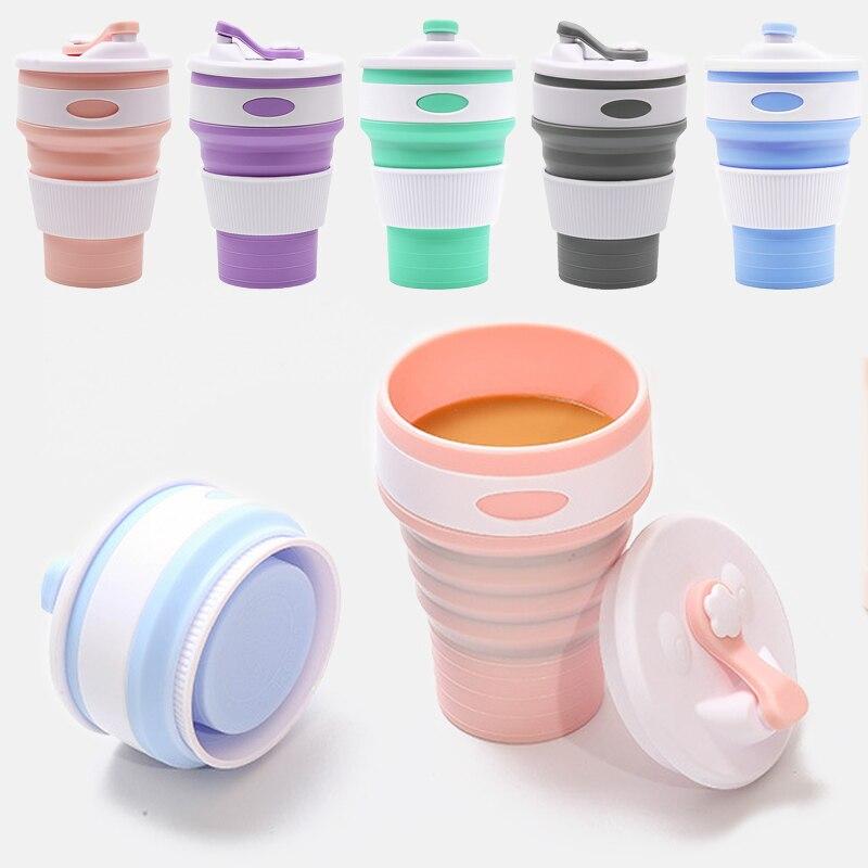 Многофункциональная Складная Питьевая кофейная чашка Складная Силиконовая кружка для путешествий портативная силиконовая Горячая Складная Силиконовая телескопическая чашка|Кружки|   | АлиЭкспресс