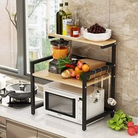 2/3 layers kitchen microwave rack oven electric rice cooker microwave oven shelf organizer seasoning storage rack