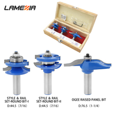 LAMEZIA 3pcs/set 1/2 Shank Carbide Woodworking Milling Cutter Set Rounded Mortise Knife Drill For Engraving Machine Wood Tool