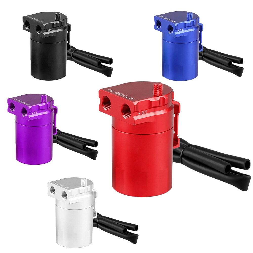 Réservoir de capture d'huile universel peut alimenter le réservoir d'huile de réservoir en Aluminium automatique de voiture noir rond en Aluminium