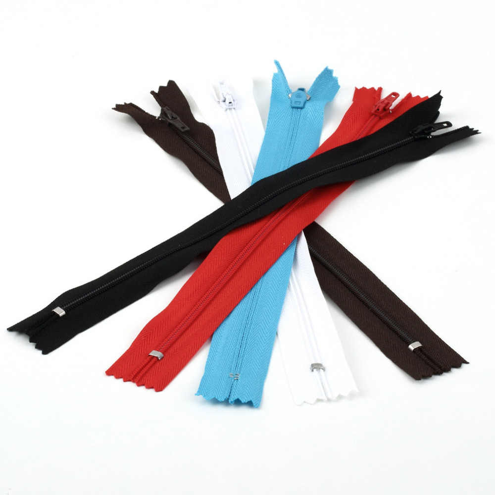 Lovely  Nylon Zippers Ideal for Fixing Skirts Making Presents Purses Closed Nylon Coil Zippers Tailor Sewing Craft
