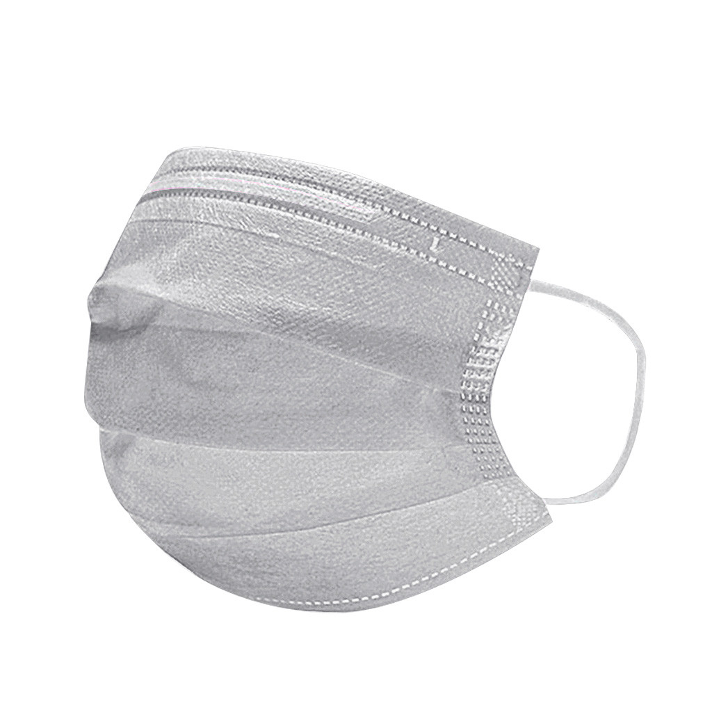 Mask Women Unisex Disposable Mask Activated Carbon Mask Protection Fabric Dust Mouth Mask 50PCS Mask Four-layer Disposable Mask