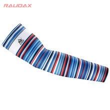 2021 Rainbow Bars UV Protection Cycling Leg Sleeves Color Bar Breathable Bicycle Running Racing MTB Bike Sports Leg Warmers