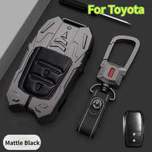 Zinc Alloy Car Key Case for Toyota Chr Rav4 Auris Avensis Prius Aygo Camry Corolla Land Cruiser 200 Prado Crown Car Key Fob