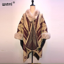 2021 Women Winter Knitted Cashmere Poncho Capes Shawl Cardigans Sweater Coat Autumn Winter Oversized Reversible Reversed
