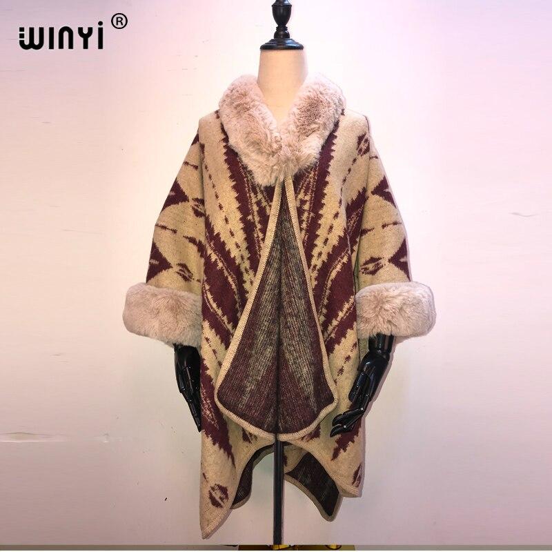 2021 inverno feminino malha cashmere poncho capes xale cardigans camisola casaco outono inverno oversized reversível invertido