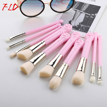 FLD 10Pcs/set Cute Cat Claw Makeup Brush Set Blush Brush Foundation Brush Eye Shadow Brush Set New Makeup Tools