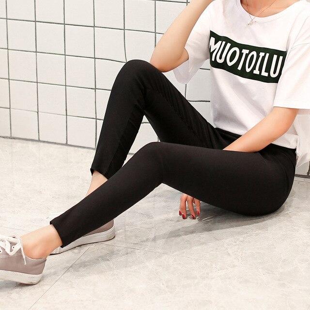 Модные женские брюки, новинка 2019, женские леггинсы, сексуальные черные брюки-карандаш, Стрейчевые облегающие брюки для тренировок