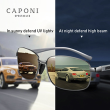 CAPONI Square Men Sunglasses Polarized Photochromic Sun Glas