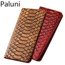 Funda magnética de cuero auténtico para teléfono con ranura para tarjeta de crédito para Samsung Galaxy A50/Samsung Galaxy A40 flip phone cubierta de la bolsa