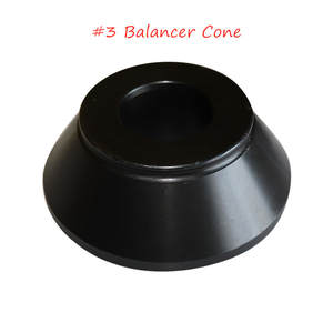 Best selling free shipping balancer adapter steel cone # 3 for tire balancing machine for tire balancing machine accessories