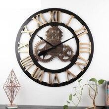 34cm / 40cm / 50cm / 60cm / 70cm industrial gear wall clock decorative wall clock industrial style wall clock mute creative gear wooden wall clock vintage industrial style clock wooden electronic home decorative wall clock