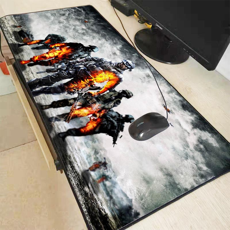 Mairuige Battlefield Mouse Pads Speed Large Locking Edge  Mouse Pad High Quality Rubber Gamer Soft  Keyboards Gaming Mousepad