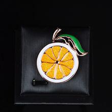Женская Брошь из серебра 925 пробы с оранжевыми вставками