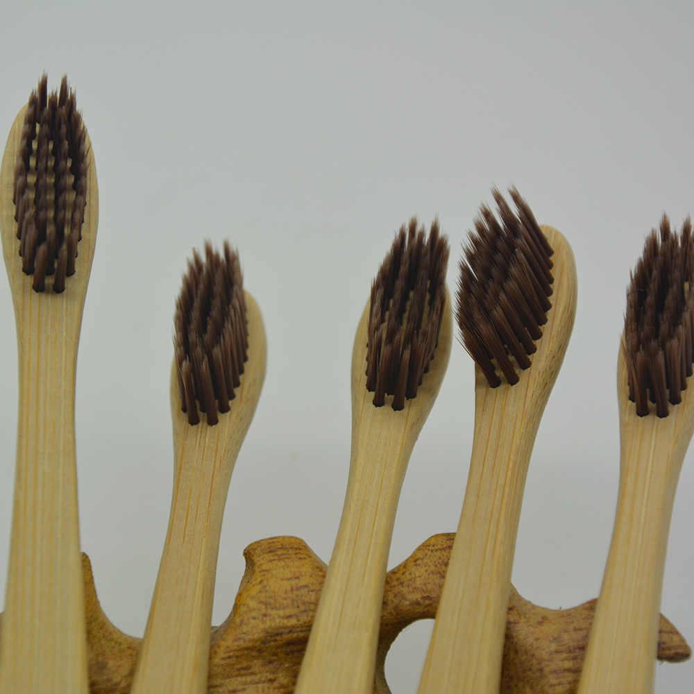 1 個環境竹歯ブラシ口腔健康低炭素竹ハンドルソフト毛歯ブラシ美白歯ホット