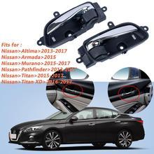 Car Interior Front Door Handle For Nissan Altima Pathfinder OE:  80670-3TA0D ( RH ) 80671-3TA0D( LH