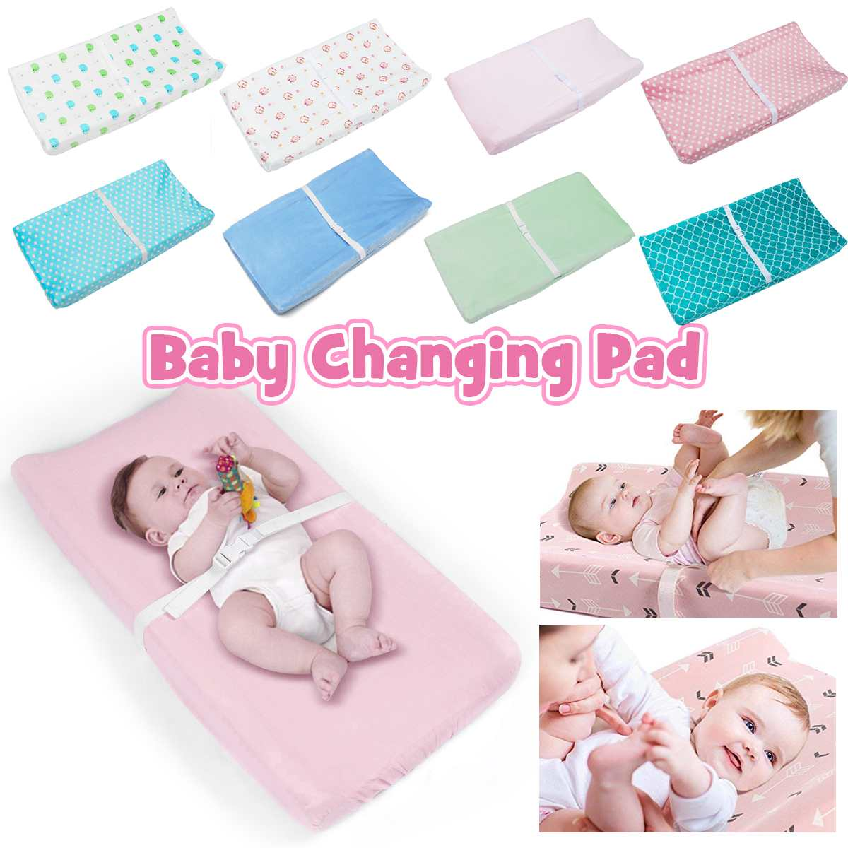 Diaper Changing Pad Cover Newborns Soft Breathable Cotton Fitted Sheet For Standard Changing Table Pads Bassinet Sheet