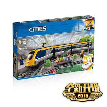 82087 Lepining City Passenger Train RC Train Railway Building Blocks Model Kid Educational Toys Lepining Train 60197 02117 1