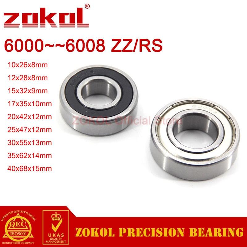 ZOKOL 5PCS/2PCS 6000 6001 6002 6003 6004 6005 6006 6007 6008 RS 2RS ZZ Deep Groove ball bearing