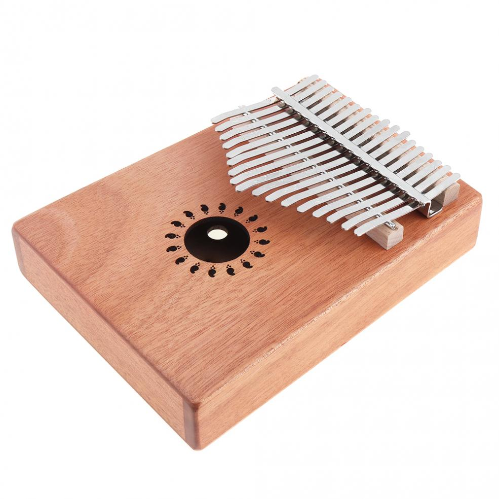 Купить с кэшбэком 17 Key Kalimba High Quality Single Board Mahogany Thumb Piano Mbira Mini Keyboard Instrument with Complete Accessories