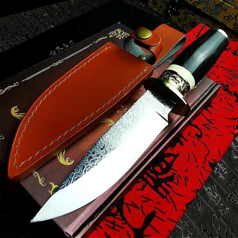 PEGASI  Japan imports DC53 steel outdoor hunting knife vacuum forging sharp tactical straight knife jungle self-defense tool