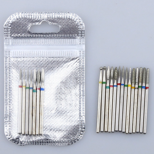 Diamond Cutters for Manicure Set Silicon Ceramic Stone Nail Drill Bits Set Electric Milling Cutter for Pedicure Manicure Machine 4