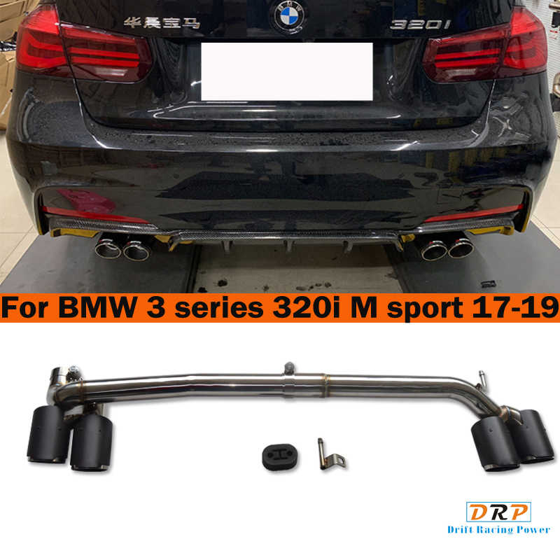 1 set carbon fiber four out car rear exhaust pipe muffler tip tailpipe for bmw 3 series 320 330 b48 4 series 428 420 425 m sport