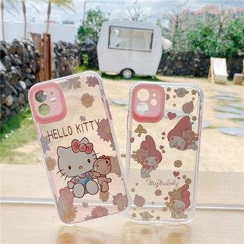 Милый чехол для телефона с рисунком Hello Kitty на заказ для Apple iphone 11 Pro Max 8 7 Plus X XS MAX SE2 XR мягкий прозрачный чехол для задней панели