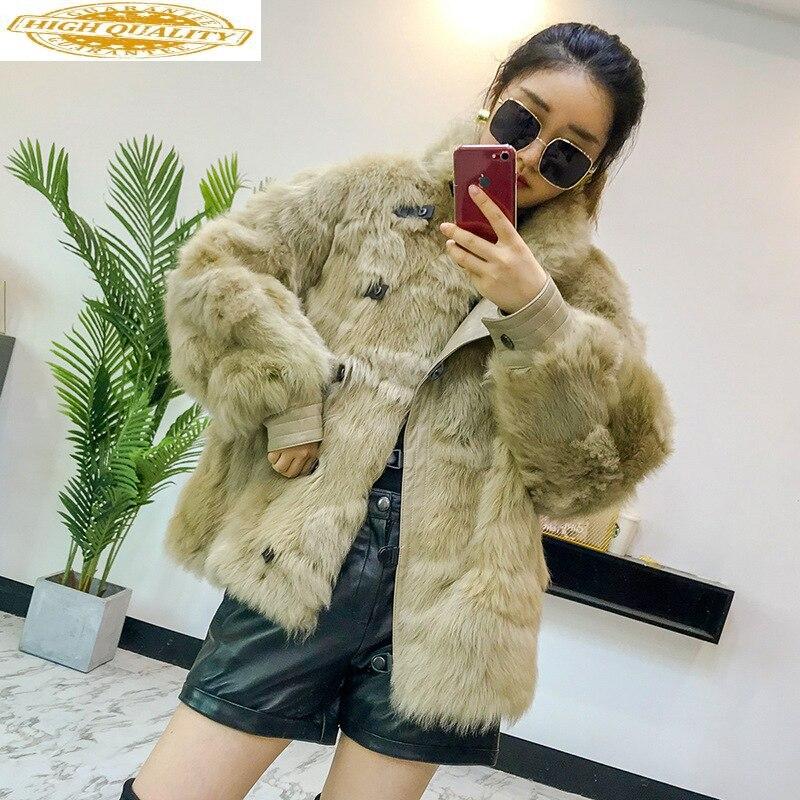 Sheep Shearing Real Fur Coat Women 100% Wool Jacket Women Clothes 2019 Winter Coat Women Korean Fur Tops DXL-922 YY1874