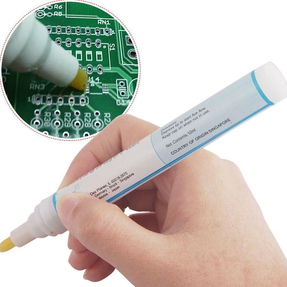 Drop Shipping 951 10ml 13cm Non-Clean Low-Solid Solder Resin Flow Pen For Kester Solar Panel Welding DIY Power Panel Hot Sale