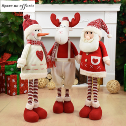 Decoration Home Santa Shaped Doll Merry Christmas Deer Shaped Toy Merry Christmas Ornaments New Year Christmas Eve Decoration