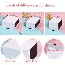 Caixa para jóias logotipo personalizado 5*5.5*4.5cm pingentes brinco caixa com anéis magnéticos colar caixa de papel jóias organizador caixa