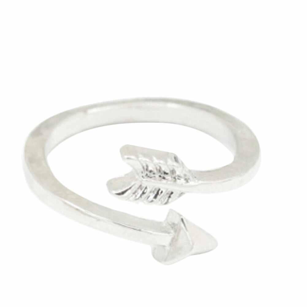 הגעה חדשה מתכוונן פליז קטן חץ טבעות לנשים חתונת טבעות זהב טבעת בציר תכשיטי טבעת