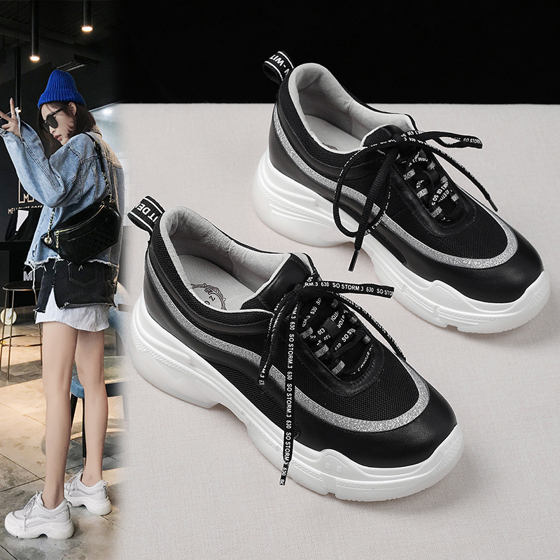 2019 Spring New Style Small White Shoes Women's Thick Bottomed Student Network Red Platform Super Fire Casual Sports INS Dad Sho