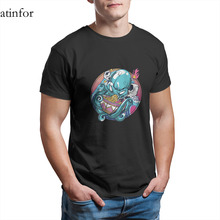 Octopus Eating Ramen Shirt Japanese Great Wave T-Shirt 100 Cotton Vintage Couples Matching Punk Anime Tees 21981 cheap Short CN(Origin) O-Neck Round sleeve Knitted Casual Digital printing