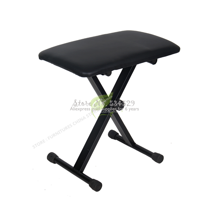 38%Folded Stainless Steel Drum Stool Single Erhu Electronic Drum Metal Piano Stools Keyboard Electric