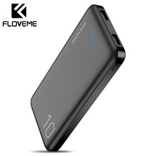 FLOVEME 10000mAh Power Bank batería externa cargador portátil mi Powerbank Poverbank Power Bank para iPhone Xiaomi(China)