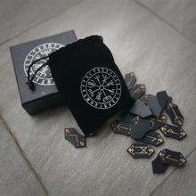 Zestaw runy ręcznie robiony zestaw runy drzewnej wróżby rekwizyty ręcznie Rune zestaw kolekcja 24 runy Rune + 1 puste rune torba do przechowywania * 1 tanie tanio
