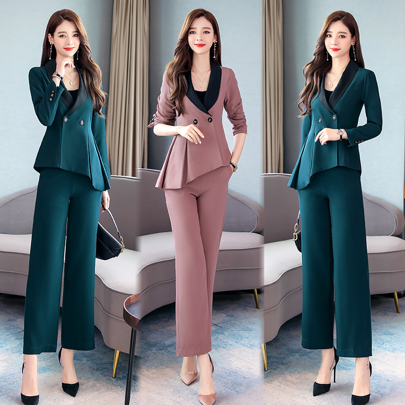 Waist Hugging Flounced Small Suit + Wide-Leg Trousers Elegant Goddess Two-Piece Set High Cold Debutante Royal Sister-Style Ol Se