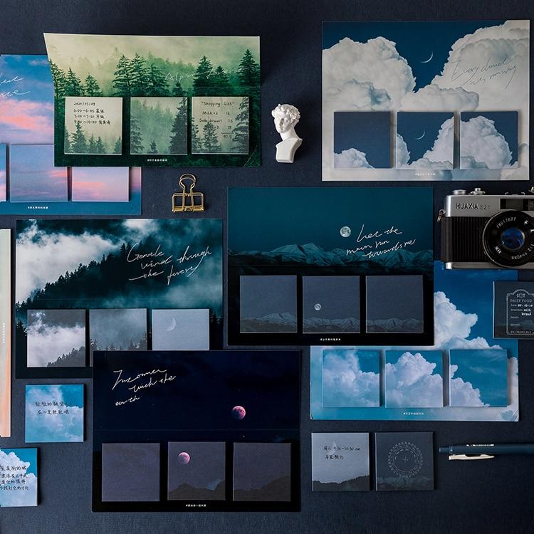 60 lap / csomag csillag erdő téma aranyos memo pad matricák - Jegyzettömbök és füzetek - Fénykép 2