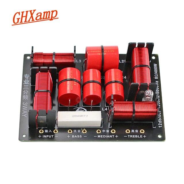 GHXAMP 400W 3 Way Crossover Hifiทวีตเตอร์Midangeวูฟเฟอร์ลำโพงCrossover 1250H/5000HZสูง แหลม 1PC