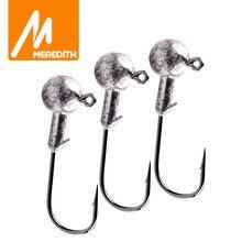 MEREDITH Lead Jig Head 1g 2g 3g 4g 5g 7g 8g 10g 12g 14g 22g Lead Head Hook Jig Fishing Hook Jig Pike Fish Accessories