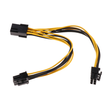 6 pin to 2 x PCIe 6 pin Graphics Card PCI-e Express VGA Splitter Power Extension Cable