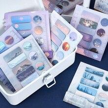 Journamm 90 pçs ins lua almofadas céu notas pegajosas escritório kawaii notas diário notas criativas deco papelaria scrapbooking cartões