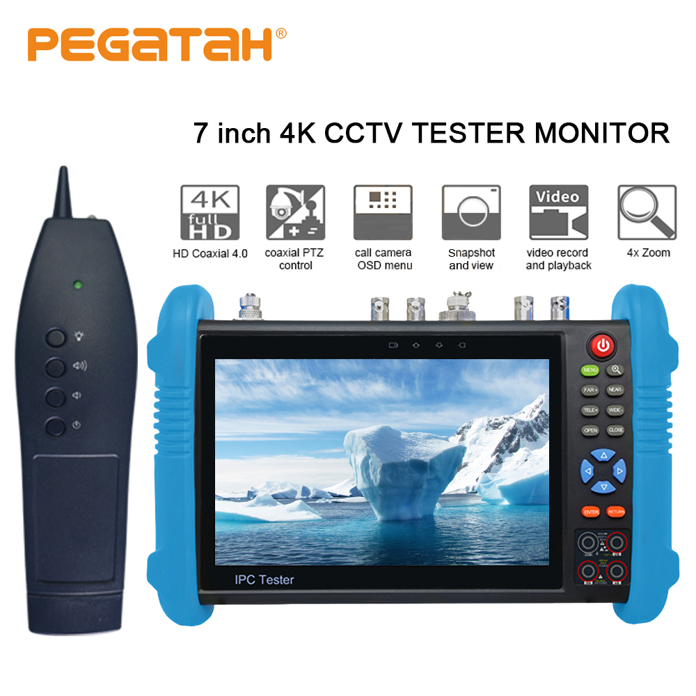 7 Inch 4K Ip Surveillance Tester CCTV Tester Kamery H.265 Monitor TDR Optical Power HDMI Security Camera Tester