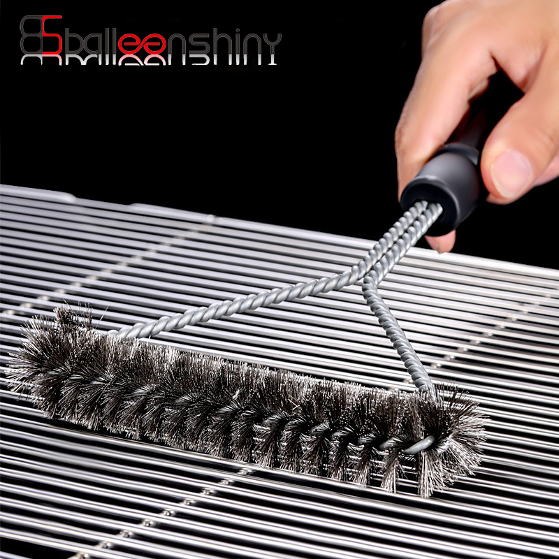 Non-Stick Barbecue Cleaning Brush Grill BBQ Tool BBQ Stainless Steel Wire Brush